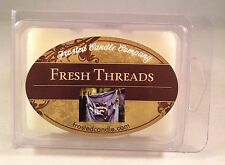 Fresh Threads 2.5 oz Wax Melts Scent Clean Crisp Cotton Linen Package Frosted