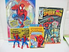 Lot 5 SPIDER-MAN = 1984 comic tablecover game cards PVC action figures