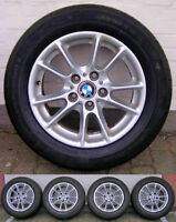 4 original BMW 5er E39 Alufelgen 6756230 + Conti Premium Contact 2 Sommerreifen