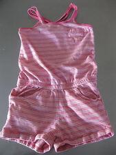 Jumpsuite Top Shirt Oberteil mit Hosen 122/128 Pink gestreift Taschen alive
