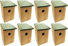More details for 8 x wooden wood nesting nest boxes bird house small birds blue tit robin sparrow