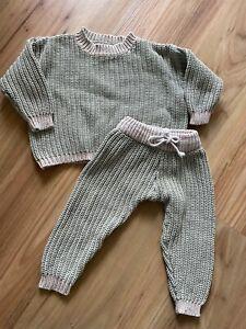 BY BILLIE chunky knit cotton kids 3 oversized matching set jumper pullover pants