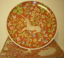 Hunt For The Unicorn Flemish Tapestry Cake Plate by Seymour Mann 1976