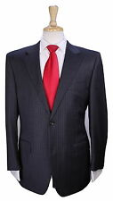 * CANALI EXCLUSIVE * 2016 Model Gray Striped Super 150's Wool 2-Btn Suit 40R