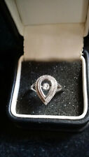 DIAMOND Dancing Sterling Silver Ring  Michael Hill TDW 0.10 Rp$250