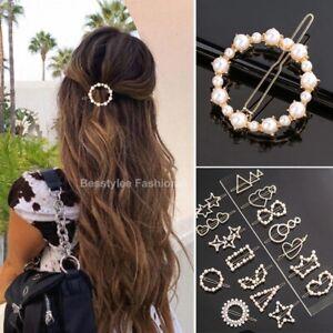 Pearl Hair Clip Women Girls Elegant Design Hair Pins Ponytail Accessories Fashio