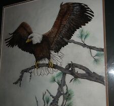 American Bald Eagle, Watercolor and Ink, original signed painting
