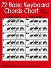 72 Basic Keyboard Chords Chart - Piano Chords - NEW 000315115