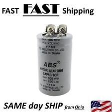 100MFD capacitor --- 100uF capacitor 250V max.
