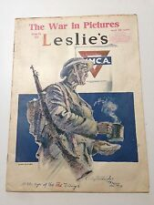 1918 OCTOBER 5 LESLIE'S WEEKLY MAGAZINE- AT THE SIGN OF THE RED TRIANGLE-ST 2218