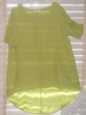 Bryn Walker ~ Art to Wear ~ Lt Green Lilo High Low Lightwt Linen A-Line Tunic L