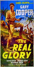 REAL GLORY 1939 Gary Cooper, David Niven Philippines US 3-SHEET POSTER