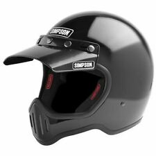 SIMPSON M50 MOTORCYCLE HELMET DOT APPROVED GLOSS BLACK M MEDIUM 58cm 7 1/4