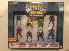 Marvel's Metallic Heroes Die Cast Metal 8 Pc. Set New Toy Biz Vintage