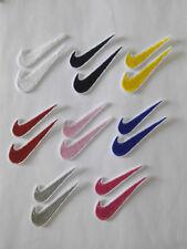 Lote 2 Parches bordados para coser o pegar estilo Nike 6/2,3 cm y 5/1,5 cm