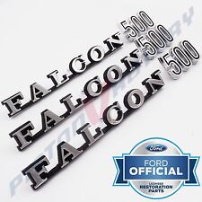 FALCON 500 Rear Quarter & Boot Badge SETS x3 , NEW for Ford XW Tailgate Badges