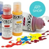 Golden Fluid Acrylic Paint 30ml Bottles Excellent Quality (Combined Postage)