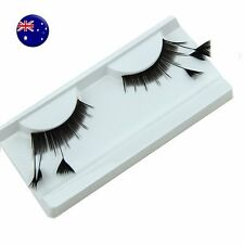 1P Long Black Costume Feather Exaggerated Party Fake False Eyelashes Eye lashes
