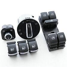 VW Golf 5 6 Chrom Fensterheber Schalter Lichtschalter Spiegel Spiegelschalter