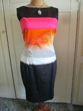 DAMSEL IN A DRESS BLACK MIX SHIFT DRESS SIZE 18