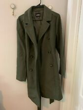 Express Classic Winter Wool Coat, M Olive Green WORN ONCE