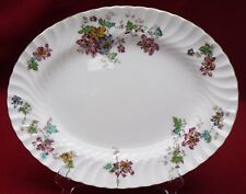 MINTON china VERMONT S365 pattern OVAL MEAT Serving PLATTER 12-1/2""