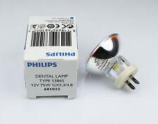 PHILIPS 13865 12V75W G5.3/4.8 Dental Lamp Analyzer light Photosensitizer bulb