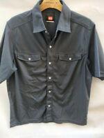 Mens QUIKSILVER Blue Black blend lightweight Polyester Summer Shirt Size S 32-36
