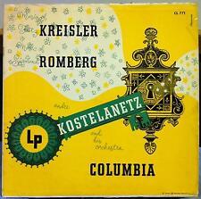ANDRE KOSTELANETZ music of kreisler & romberg LP VG+ ML 54253 Alex Steinweiss US