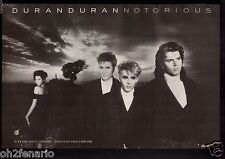 Vintage 1986 Print Ad Duran Duran Band Photo Notorious Album Promotion