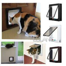 Magnético 4-modo bloqueo gatera Bloqueable Pequeño Cachorro Perro Mascota Puerta