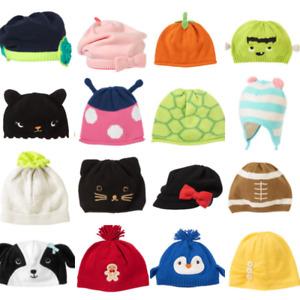Gymboree Baby Hat Newborn 0-3-6-12-18-24 owl Penguin Halloween Black Cat knit