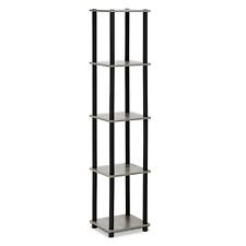 5 Tier Wood Shelf Bookcase Bookshelf Storage Shelves Unit Display Rack Organizer