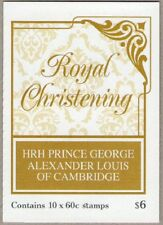 2014 AUST STAMP BOOKLET ROYAL CHRISTENING PRINCE GEORGE 10 x 60c STAMPS MUH