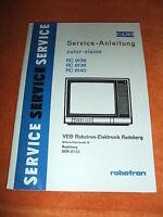 DDR Kult RFT Serviceanleitung Schaltplan robotron Fernseher color-Vision RC 9138