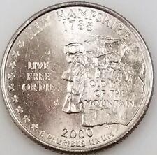 2000 New Hampshire State Quarter struck through reverse mint error!