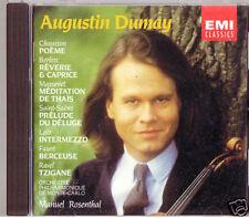 Augustin DUMAY: CHAUSSON Poeme RAVEL Tzigane CD Berlioz Lalo Faure Massenet CD