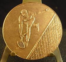 Médaille Tennis man Sport par Helene Guastalla bronze 50 mm 78 g Medal 铜牌