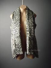 Sale Leopard Faux Fur Shawl Collar Glam Rock & Roll Jacket Coat 56 ac Vest S/M