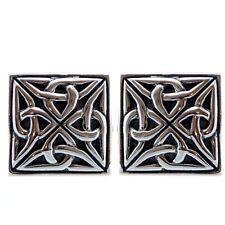 quadrato in argento sterling, CELTICO Gemelli con confezione regalo