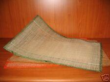 12 TOVAGLIETTE in ABACA col:arancio/verdi/beige cm46x31