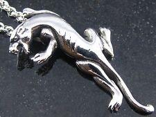 Edelstahl Anhänger Panther  Damen Herren Jaguar mit Edelstahlkette Schmuck Kette