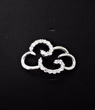 LeStage Convertible Clasp  - Cloud With CZ's (SB5927)