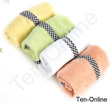Authentic Mackenzie Childs    Baby Washcloths - Sherbet - Set of 4