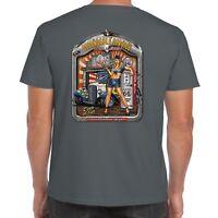 Mens Hotrod 58 T shirt Hot Rod Service Garage Classic American Vintage Car 38