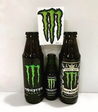 Monster Energy Drink Glass Bottles. Rare Discontinued Collectors Item. Full Set