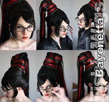 Perücke Wig Bayonetta black schwarz Size Large Cosplay Costume Kostüm Arda Wigs