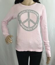 Small Rocky Mountain Mennonite Camp Thermal Top Pale Pink Casual Shirt