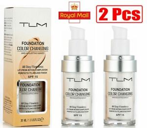 2 x  Magic Flawless Colour Color Changing Foundation TLM Makeup Change Skin Tone