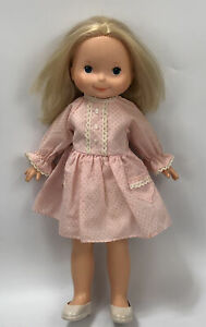 Vintage 1970s Fisher Price My Friend Mandy Doll Blonde Hair Pink Dress AA